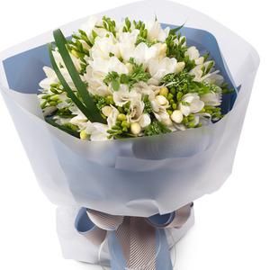 후리지아흰색꽃다발 (★ 예약상품)